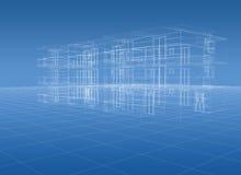 De bouw van de blauwdruk Royalty-vrije Stock Afbeelding