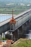 De bouw van de brug royalty-vrije stock foto