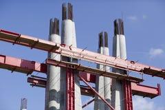 De bouw van de brug Royalty-vrije Stock Afbeeldingen