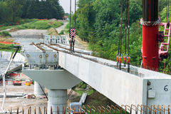 De bouw van de brug Stock Fotografie