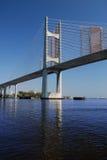 De Bouw van de brug Stock Afbeelding