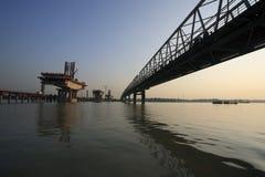De Bouw van de brug Royalty-vrije Stock Afbeelding