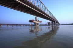 De Bouw van de brug royalty-vrije stock fotografie