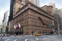 De bouw van de Carnegiezaal in de Stad van New York Stock Afbeelding