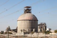 De bouw van de cementfabriek Stock Foto