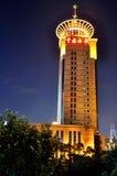 De bouw van de Douane van Shanghai China in nacht Stock Afbeelding