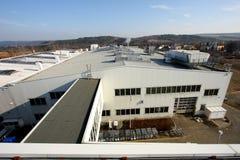 De bouw van de fabriek Stock Afbeelding