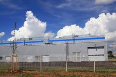 De bouw van de fabriek royalty-vrije stock afbeelding