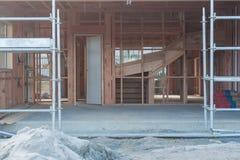 De bouw van de garage in een privé huis Royalty-vrije Stock Afbeelding
