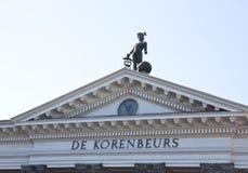 De Bouw van de graanuitwisseling, Groningen, Nederland Royalty-vrije Stock Fotografie