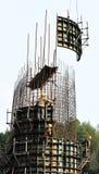 De bouw van de het spoorbrug van de hoge snelheid Royalty-vrije Stock Fotografie