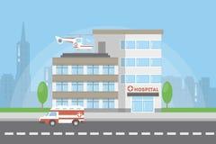 De bouw van de het ziekenhuisstad royalty-vrije illustratie