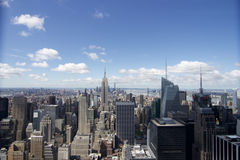 De bouw van de imperiumstaat - New York - vue depuis le top van de rots Royalty-vrije Stock Foto's