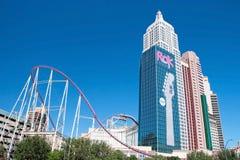 De bouw van de imperiumstaat in Nieuw York-Nieuw York op Las Vegas Stri Stock Afbeeldingen