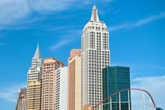 De bouw van de imperiumstaat in Nieuw York-Nieuw York op Las Vegas Stri Stock Foto