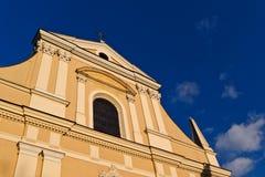 De bouw van de kathedraal, Krakau Royalty-vrije Stock Afbeelding