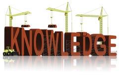 De bouw van de kennis Stock Fotografie