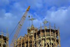 De bouw van de kerk Stock Foto's
