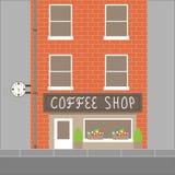 De bouw van de koffiewinkel Stock Afbeelding