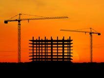 De bouw van de kraan Royalty-vrije Stock Foto's