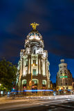 De bouw van de metropool in Madrid Stock Afbeelding