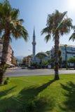 De bouw van de moskee stock foto