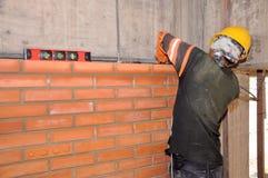 De bouw van de muur stock foto's