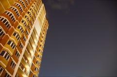 De bouw van de nacht Royalty-vrije Stock Foto's