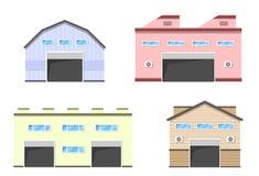 De bouw van de pakhuislogistiek vector illustratie