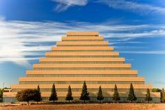 De bouw van de piramide. Stock Fotografie