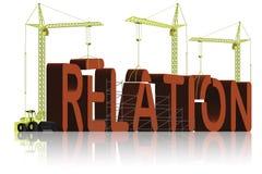 De bouw van de relatie Stock Foto