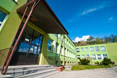 De bouw van de school Stock Foto's