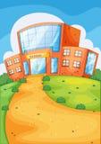 De bouw van de school Stock Afbeelding