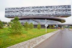De bouw van de School van Moskou van Beheer SKOLKOVO Royalty-vrije Stock Afbeeldingen
