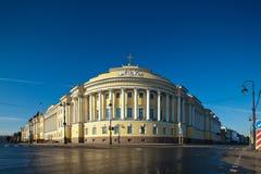 De bouw van de senaat en van de Synode in St. Petersburg stock afbeeldingen