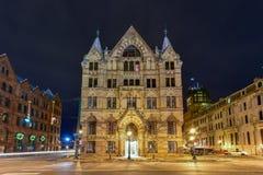De Bouw van de Spaarbank van Syracuse Stock Afbeeldingen
