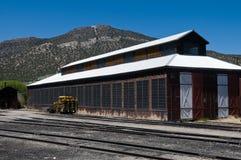 De bouw van de spoorweg stock afbeeldingen