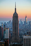 De Bouw van de Staat van het imperium bij zonsondergang Royalty-vrije Stock Foto