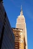 De Bouw van de Staat van het imperium in de Stad Manhatta van New York Stock Afbeelding