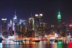 De Bouw van de Staat van het imperium, de Stad van New York stock afbeeldingen