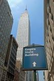 De Bouw van de Staat van het imperium in de Stad van New York Stock Foto's