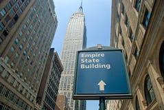 De Bouw van de Staat van het imperium in de Stad van New York Stock Fotografie