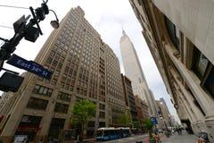 De Bouw van de Staat van het imperium, de Stad van New York Stock Foto