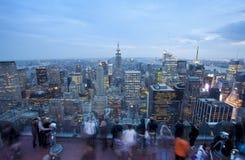 De Bouw van de Staat van het imperium en de Horizon van New York Royalty-vrije Stock Fotografie