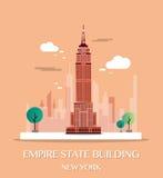 De Bouw van de Staat van het imperium Vector illustratie royalty-vrije illustratie