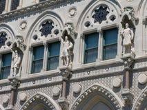 De bouw van de staatscapitol van Connecticut Stock Afbeelding