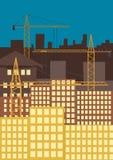 De bouw van de stad. Vector Illustratie