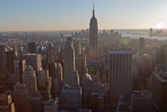 De Bouw van de Stad van New York en van de Staat van het Imperium Stock Fotografie