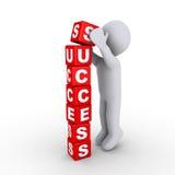 De bouw van de succesblokken Stock Afbeeldingen