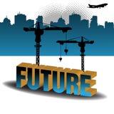 De bouw van de toekomst Stock Foto